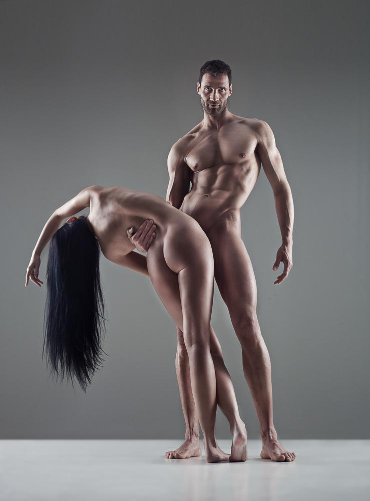 Female whole body naked vector