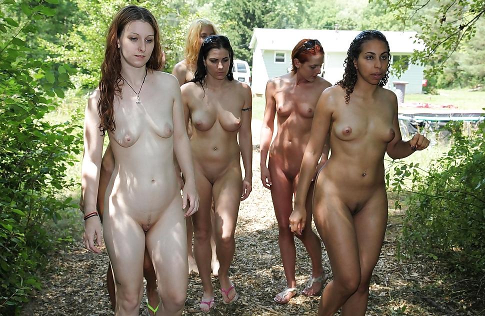 Nude woman portrait canvas print