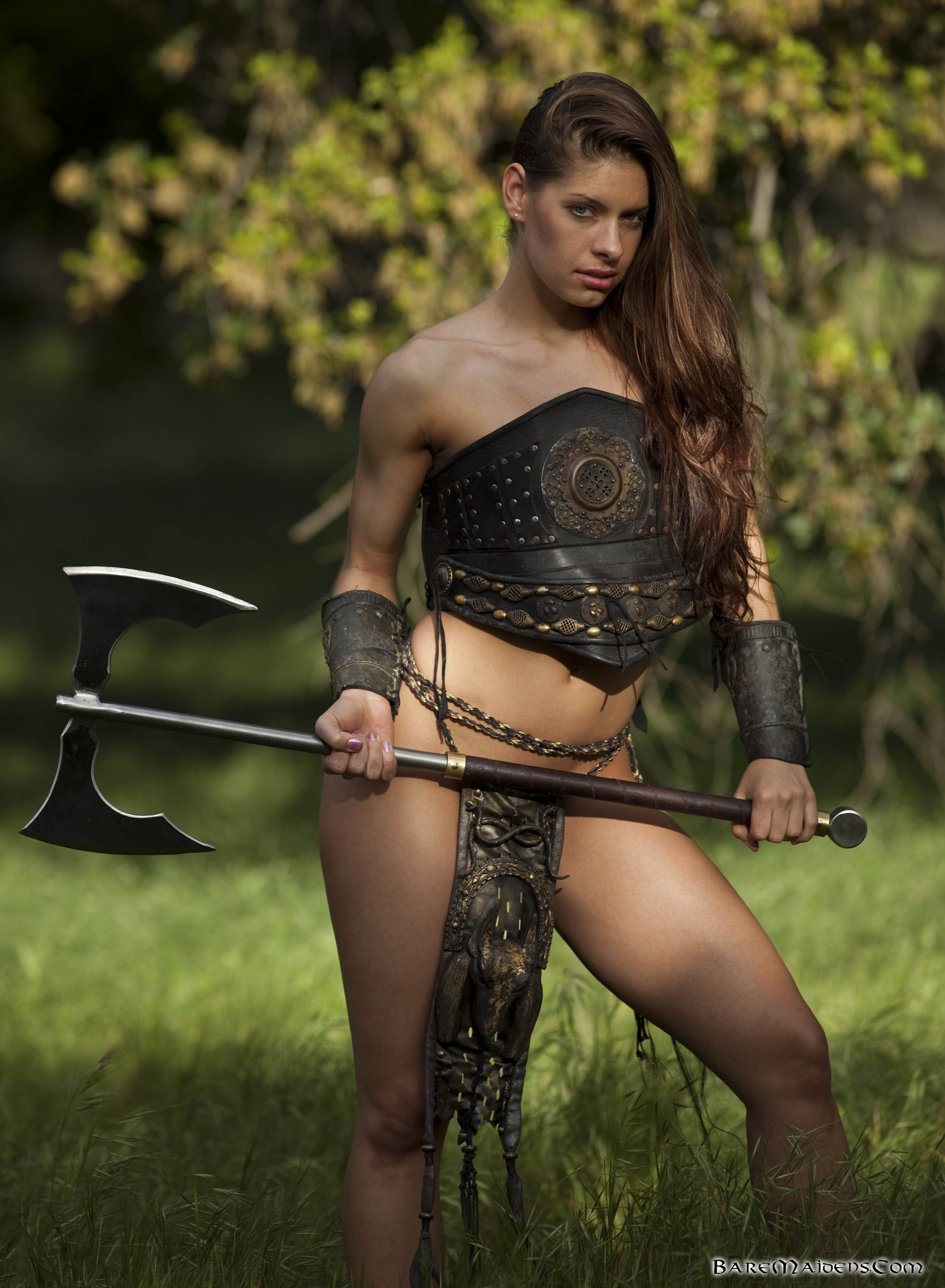 Naked woman with a sword