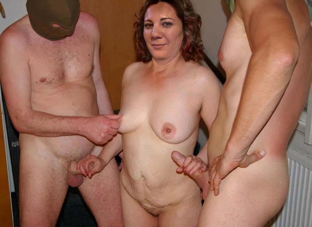 Naked Mature Gang Bang