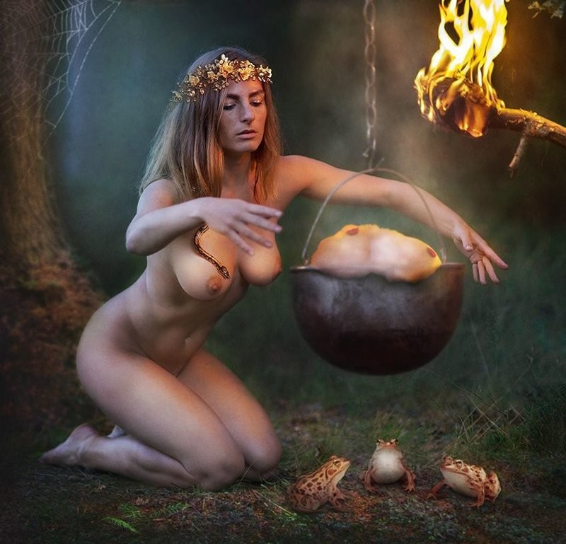 Witches Goat Sabbath Witchcraft Naked Witches Goat Black